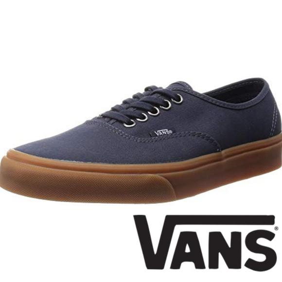 navy gum sole vans